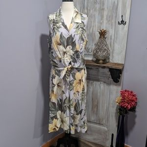 Tommy Bahama silk floral blouse & skirt set